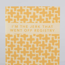 off registry baby shower card, off registry bridal shower card by exit343design