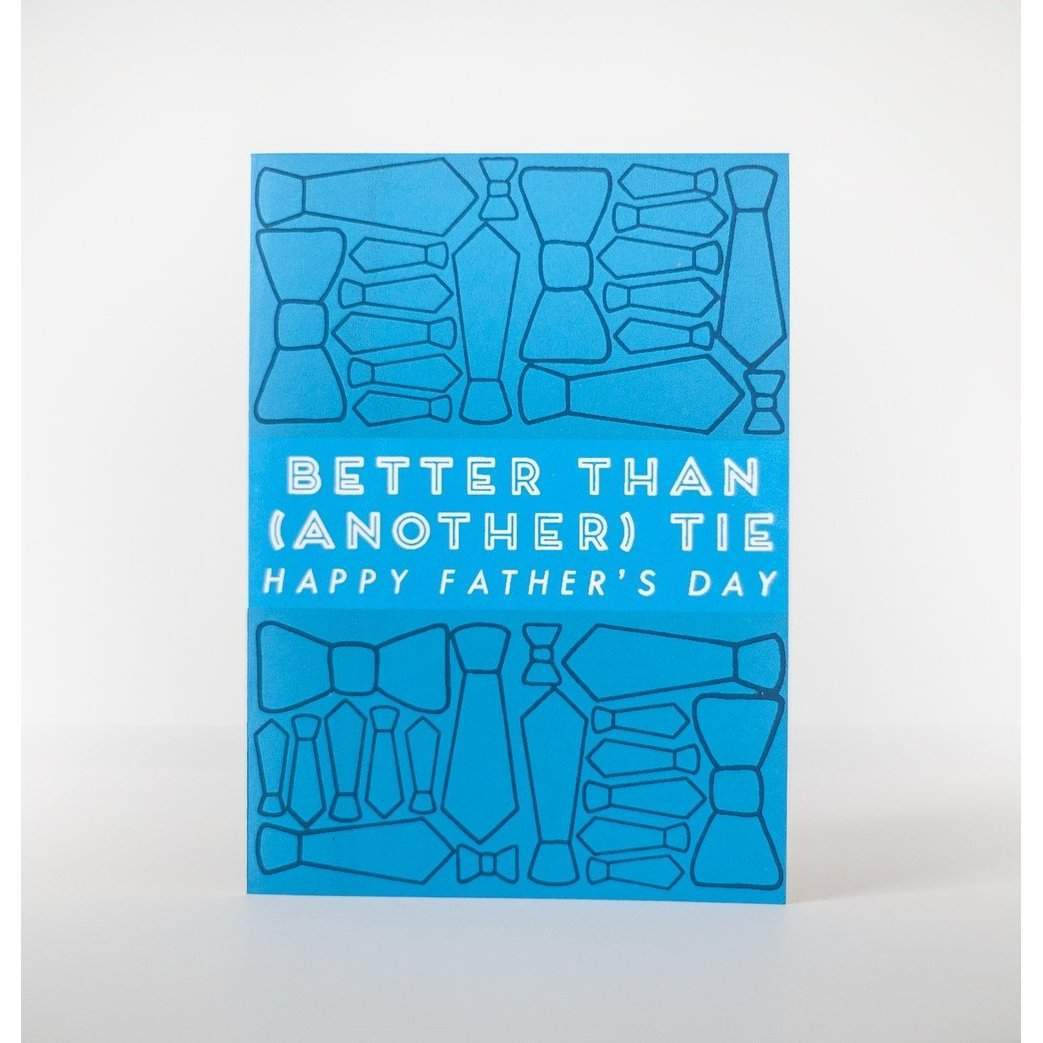 funny father's day card for a dad who gets a lot of ties for father's day by exit343design