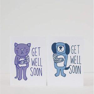 get well card, sympathy card cat lover card