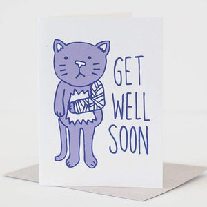 get well card by exit343design, card for cat lover, sympathy card