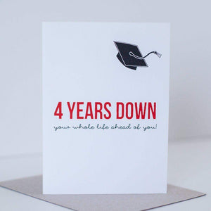 positive graduation card for high school graduation and college graduation by exit343design