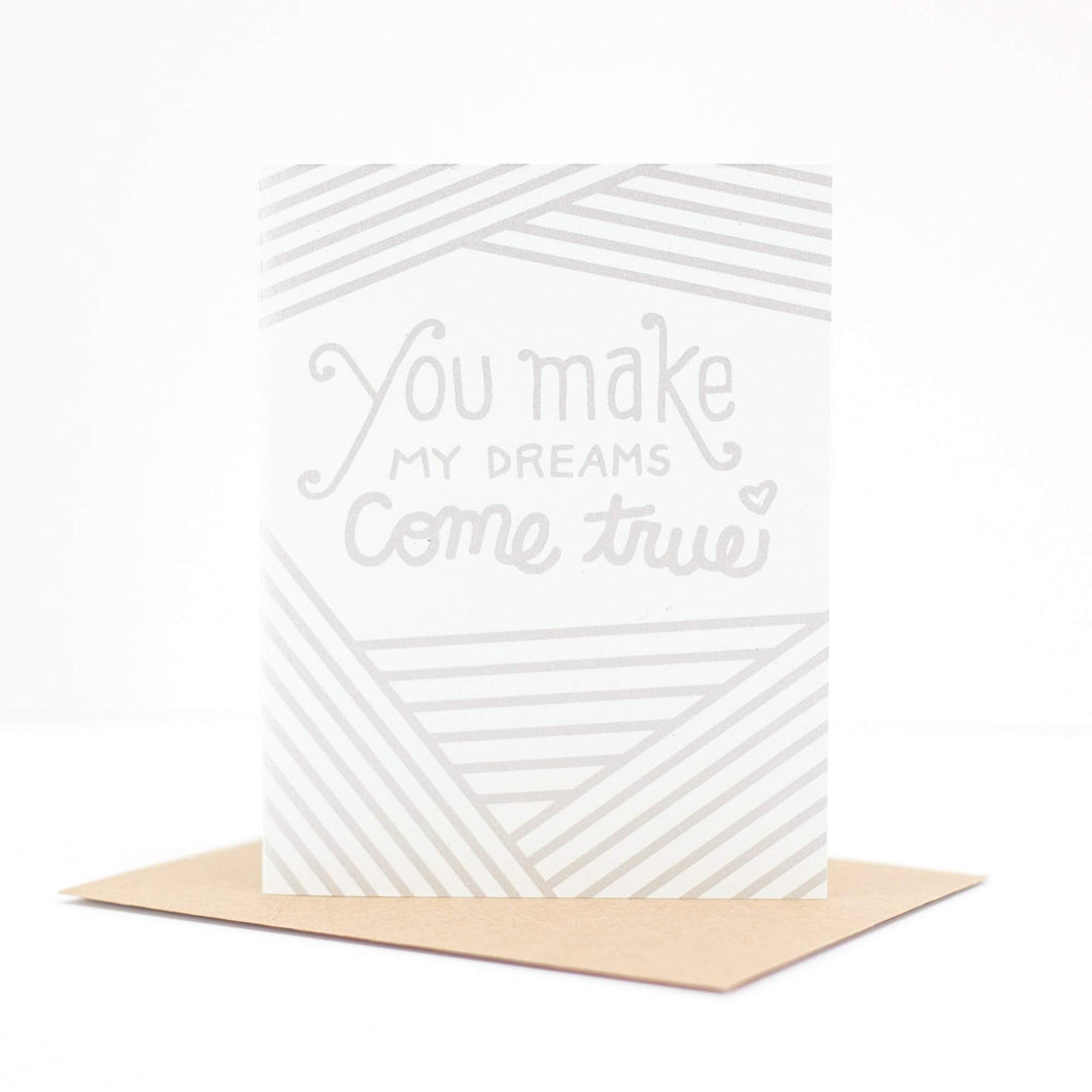 hall and oates greeting card, you make my dreams come true by exit343design