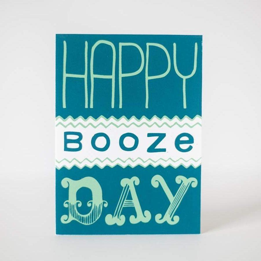 happy booze day funny birthday card by exit343design