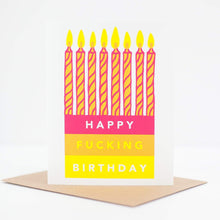 happy fucking birthday card, funny birthday card with candles by exit343design