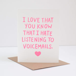funny friendship card about hating voicemails funny friendship greeting card by exit343design