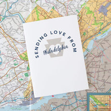 sending love from Philadelphia greeting card by exit343design