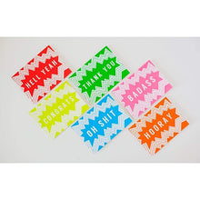 color burst blank card, HOORAY greeting card
