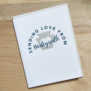 Harleysville Montgomery county Pennsylvania greeting card