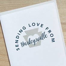 Sending love from Harleysville, Pennsylvania greeting card by exit343design