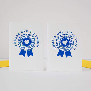 number one little spoon card blue ribbon award