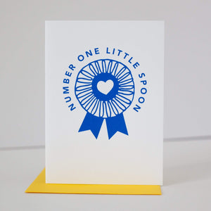 number one little spoon card by exit343design