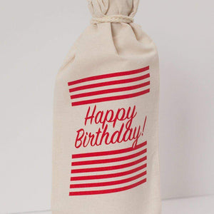 wine gift bag, birthday gift, happy birthday gift