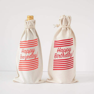 wine gift bag, birthday gift, happy boozeday