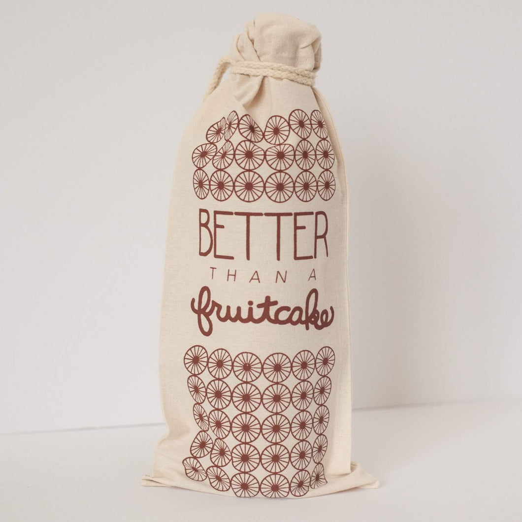 wine gift bag, holiday gift, better than a fruitcake Christmas gift idea