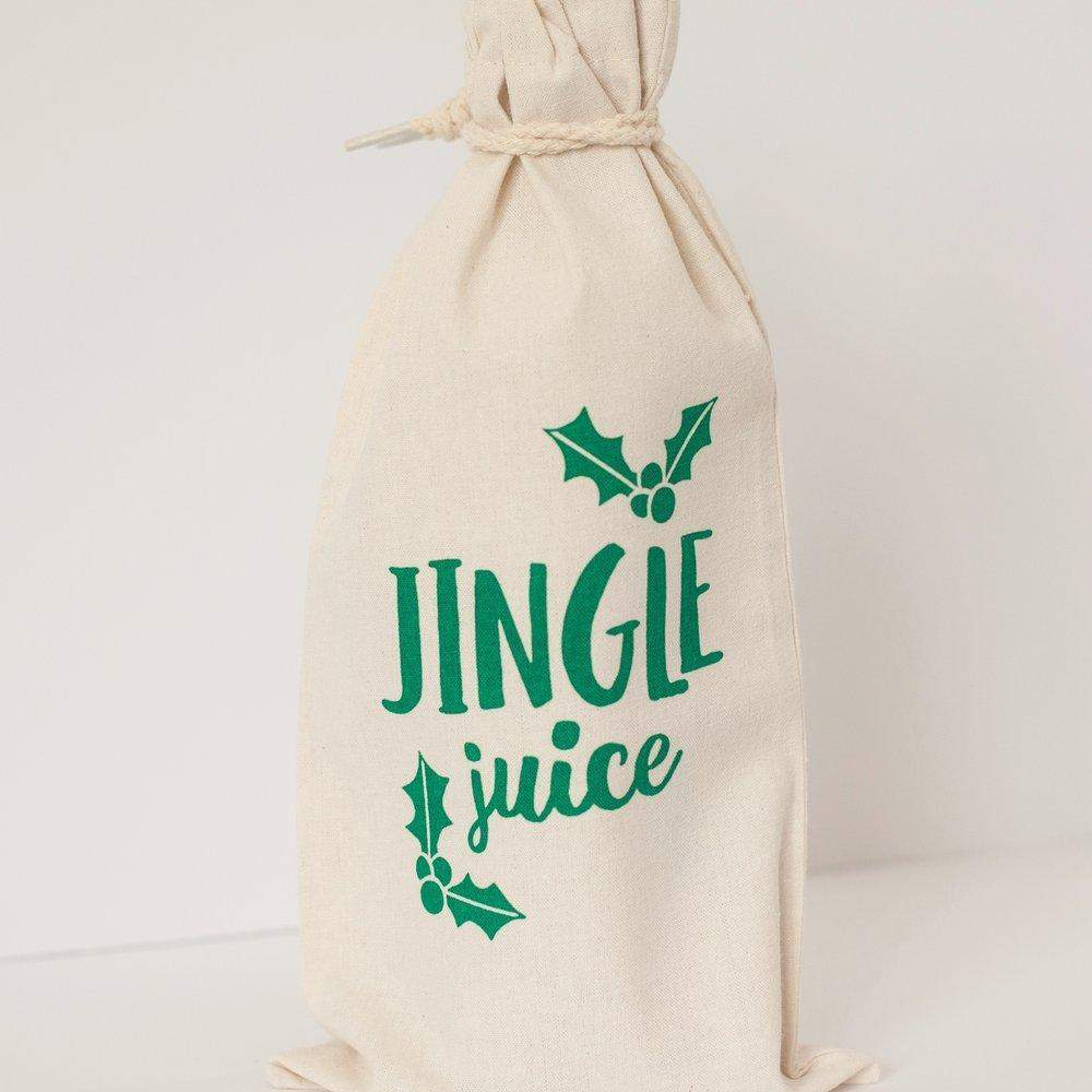 jingle juice holiday wine bag by exit343design