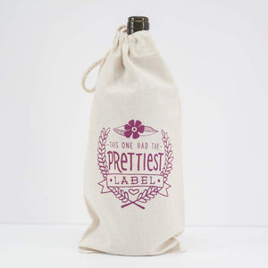 this one had the prettiest label funny wine gift bag by exit343design