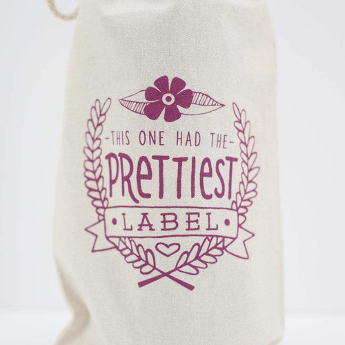 wine gift bag, wine gift, prettiest label
