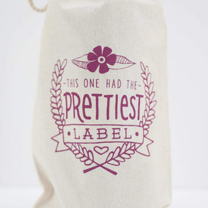 this one had the prettiest label wine gift bag by exit343design
