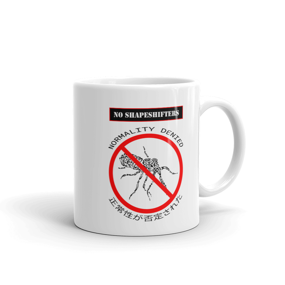 No Shapeshifters Mug
