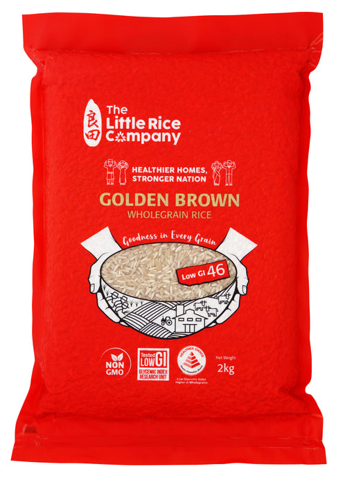 The Little Rice Company Wholegrain Golden Brown Rice Singapore