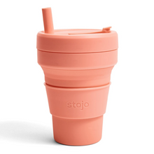 16oz Stojo Biggie Apricot Collapsible Cup Singapore
