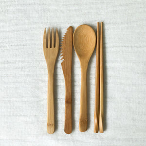 Bamboo Cutlery Set Singapore