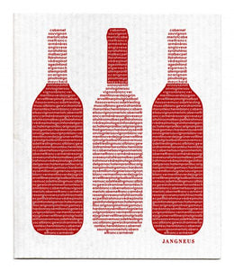 Swedish Dishcloth Red Wine Bottles