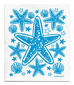 Swedish Dishcloth Turquoise Starfish