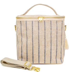 SoYoung Lunch Bag Pinstripes Linen Singapore
