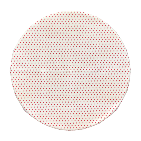 Beeswax Wrap Retro Red Polka Medium