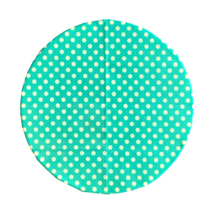 Beeswax Wrap Retro Teal Polka Small