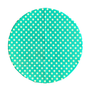 Beeswax Wrap Retro Teal Polka Large