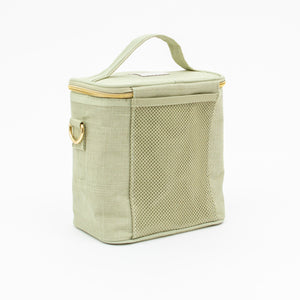 SoYoung Petite Lunch Bag Sage Green Linen Singapore