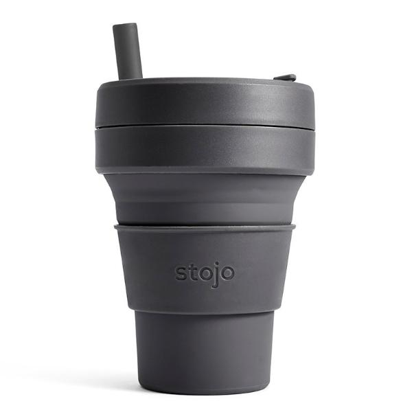 16oz Stojo Biggie Brooklyn Collection Carbon Collapsible Cup Singapore
