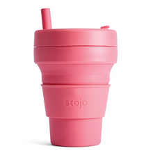 16oz Stojo Biggie Peony Collapsible Cup Singapore