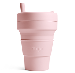16oz Stojo Biggie Tribeca Collection Carnation Collapsible Cup Singapore