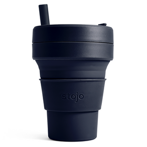 16oz Stojo Biggie Tribeca Collection Denim Collapsible Cup Singapore