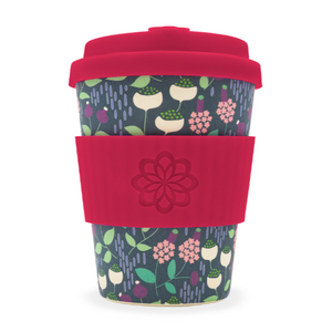 Ecoffee Cup Bamboo Fibre Takeaway Cup Tiny Garden Vondel 12oz 340ml Singapore