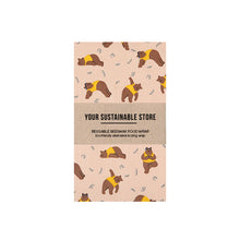 Beeswax Wrap Medium Yoga Bear Singapore