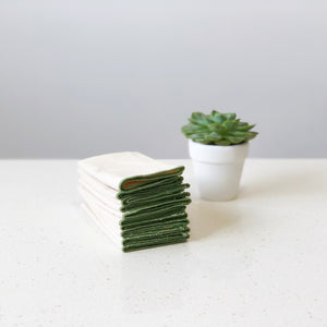 Organic Unbleached Cotton Muslin Olive Green Handkerchief Singapore