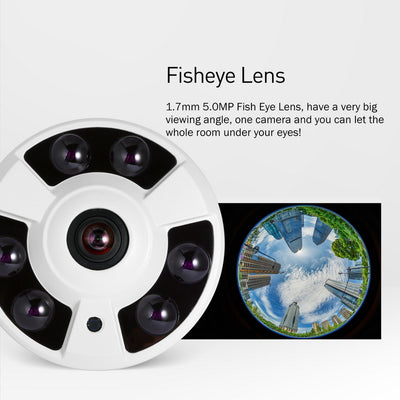 6 Array LED IR Panoramic Fisheye IP Camera