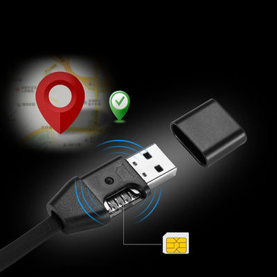 Bluetooth GPS Tracker Car Positioning iPhone Charging Cable