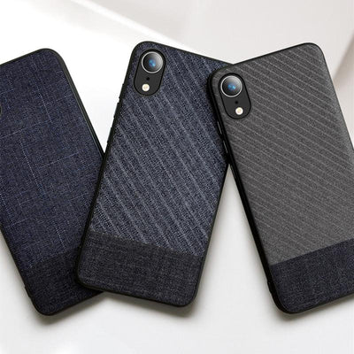 Business Suit Cloth Style Fabrics Case For iPhone