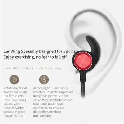 CD Patterend Shark Fin Wireless Earphone
