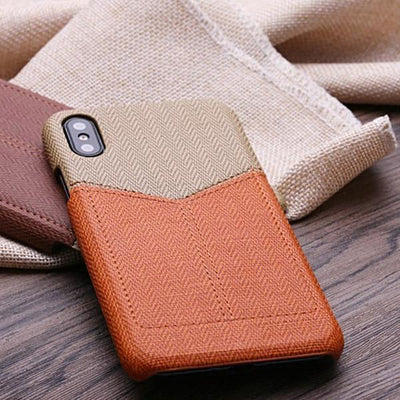 Card Slot Leather Case for iPhone X