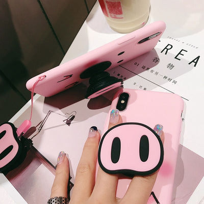 Cute Pink Pig Case For iPhone
