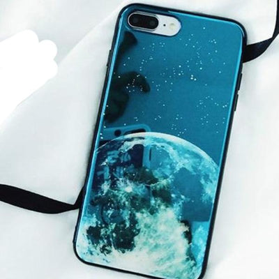 Blue Moon iPhone Case
