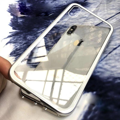 Tempered Glass Magnetic Bumper Case