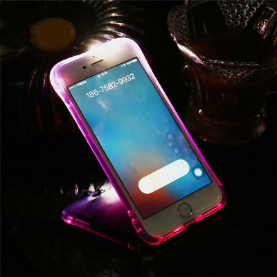 LED Flash Light Call Case For iPhone