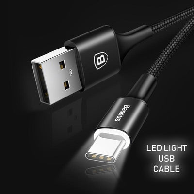 LED Light USB Type-C Charging Cable